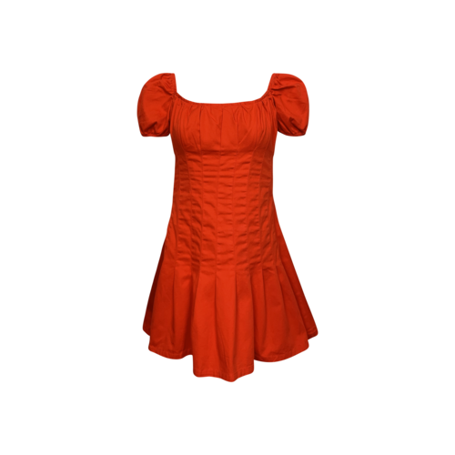Finders Keepers Red Pleated Mini Dress