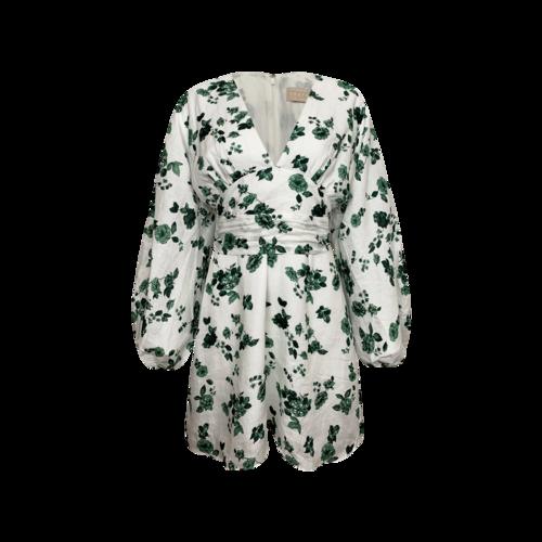 "Keepsake The Label Green ""Fallen"" Floral Print Mini Dress"