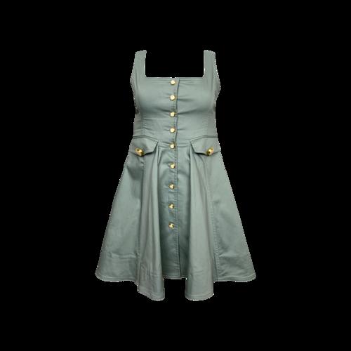 "Alexis Sea Mist Green ""Nena"" Button Front Dress"