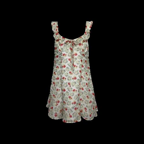 "Majorelle White Floral ""Sunbeams"" Mini Dress"