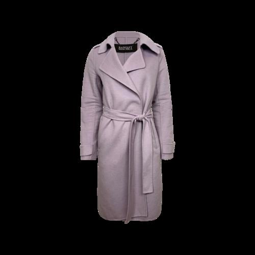 Badgley Mischka Lavender Wool Wrap Coat