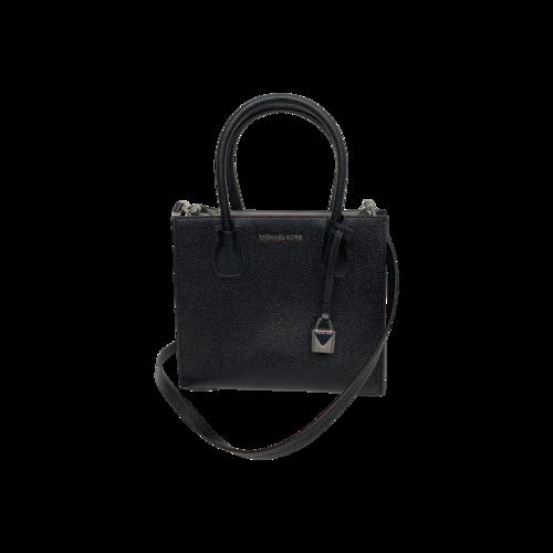 "Michael Kors Black ""Mercer"" Top Handle Crossbody Bag"