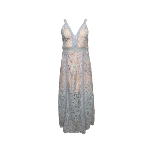 "Alice Mccall Powder Blue Lace ""Wanderlust"" Dress"