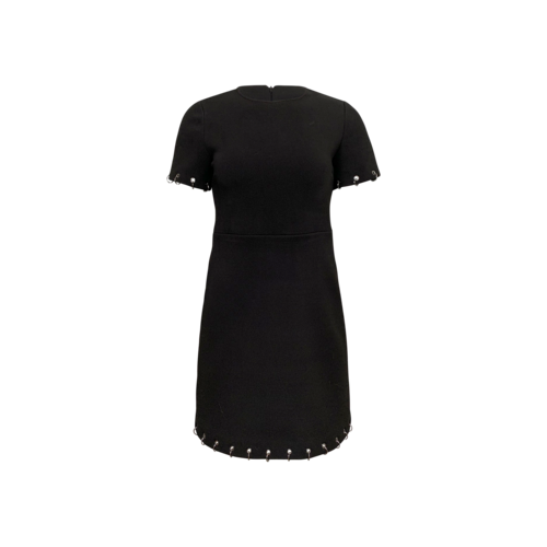 Maje Dress with Silver Hoop Details