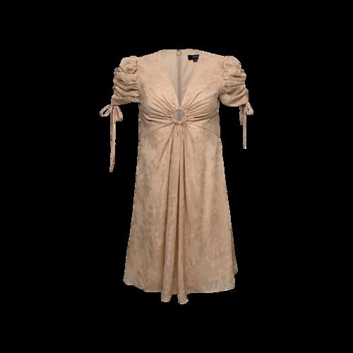 Aidan Mattox Pink Floral Keyhole Dress