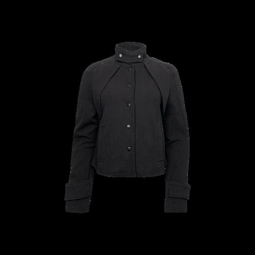 Proenza Schouler Black Button Snap Jacket