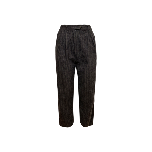 Max Mara Grey Pinstripe Highwaisted Trousers