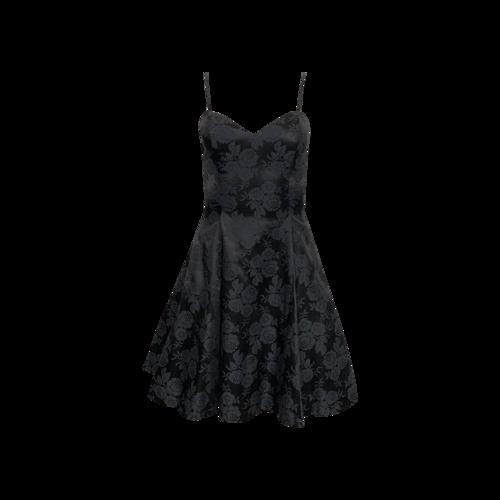 Vintage Black Jessica McClintock Floral Jacquard Dress