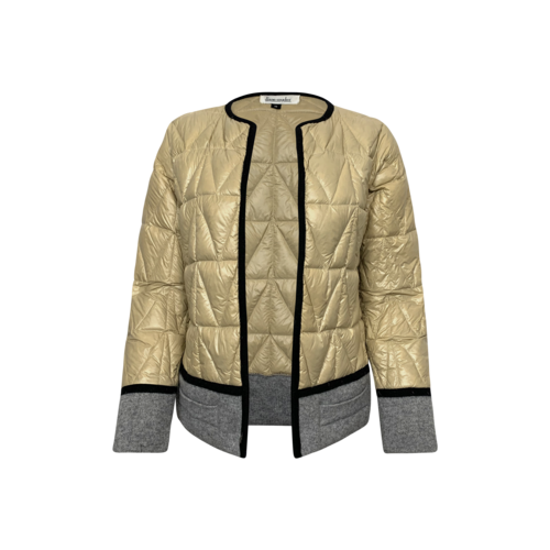 Vintage Diane Snyder Beige Puffer Two-Tone Jacket
