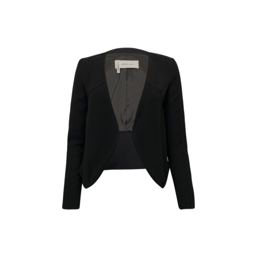 Derek Lam Black Cropped Tuxedo Style Jacket