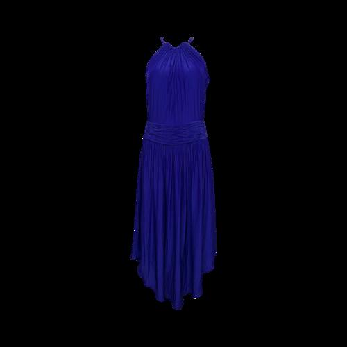 "Ramy Brook Blue ""Marti"" Cocktail Dress Midi Halter Dress"