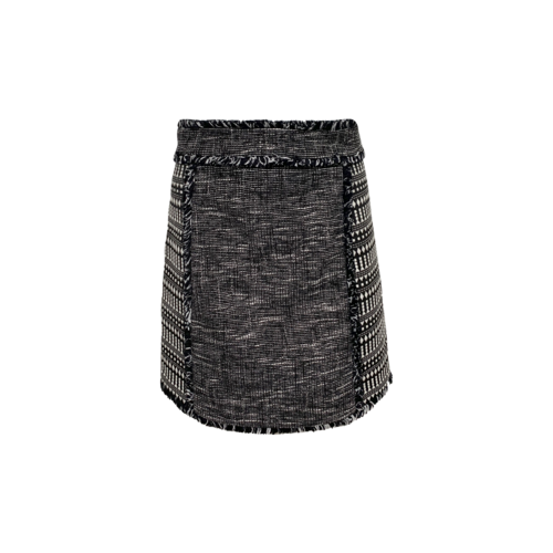 French Connection Black and White Pixel Mix Skirt