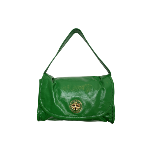Marc Jacobs Emerald Green Patent Leather Turnlock Shoulder Bag
