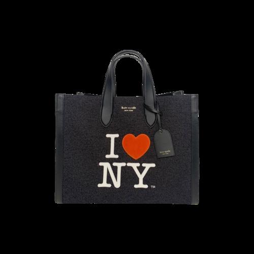 "Kate Spade Black ""I love NY"" x Kate Spade Manhattan Large Tote"
