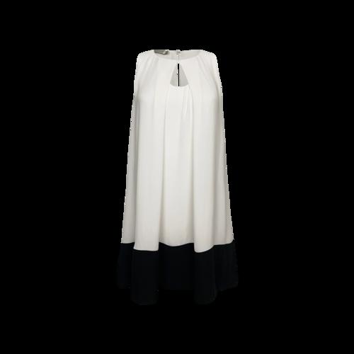 Miele Cream Color Block Flowy Shift Dress