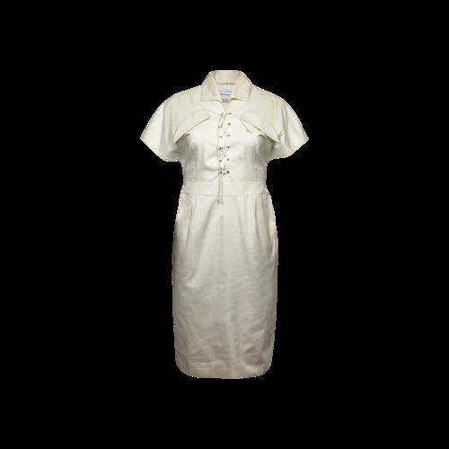 Altuzarra White Lace Up Cotton Dress