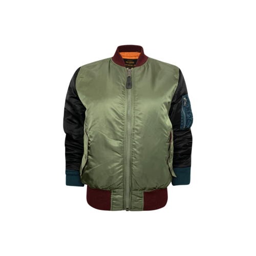 Alpha Industries Reversible Army Green Two-Tone Bomber Jacket