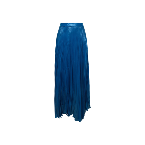Alice + Olivia Shimmer Teal Accordion Pleat Maxi Skirt