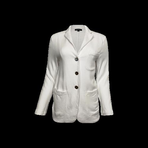 Vintage White Bluesalt Cotton Blazer