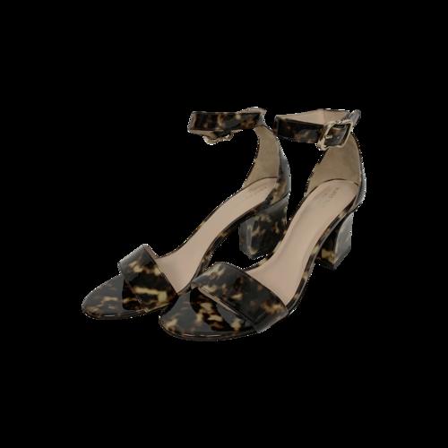"Kate Spade Tortoise Print ""Susane"" Patent Leather Sandals"