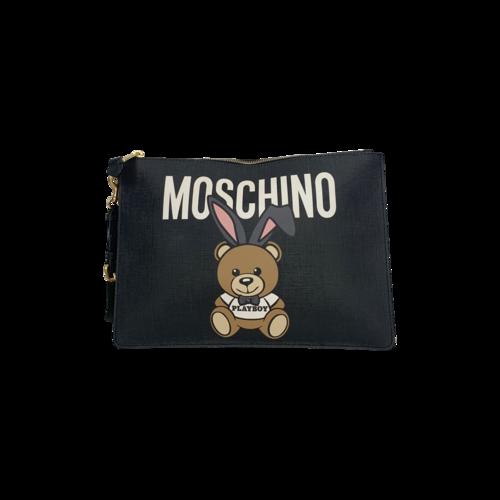 Moschino Black Moschino x Playboy Teddy Bear Wristlet Clutch