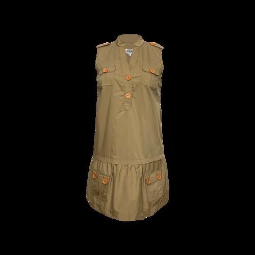 Tibi Brown Utilitarian Style Dress