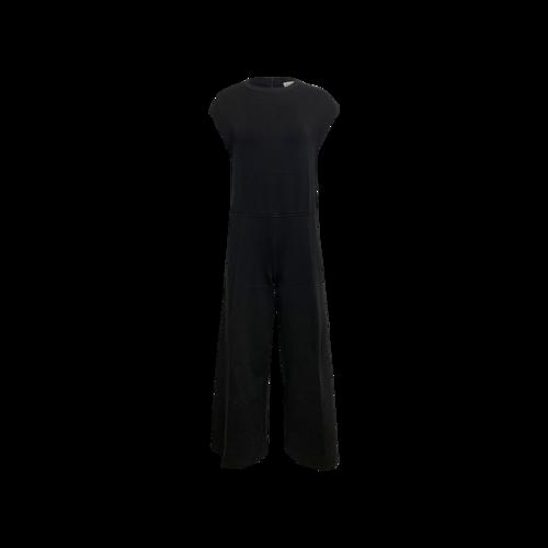 Balenciaga Black Cotton Stretch Jumpsuit