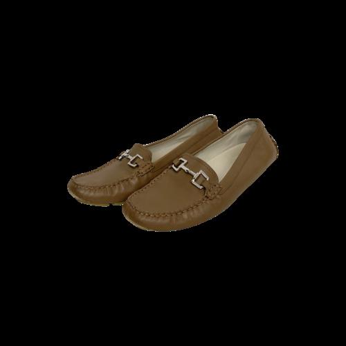 Gucci Beige Horsebit Driving Moc Loafers