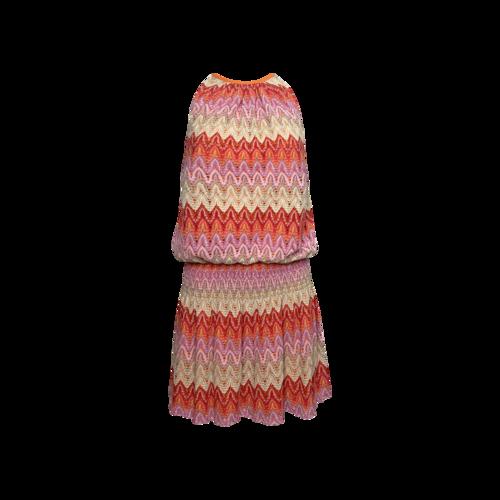 "Ramy Brook Lurex ""Paris"" Sleeveless Mini Dress in Pink Wave"