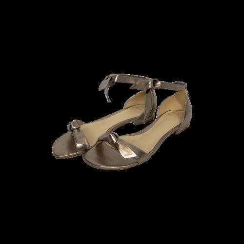 "Alexandre Birman Metallic Gold ""Clarita"" Leather Sandals"