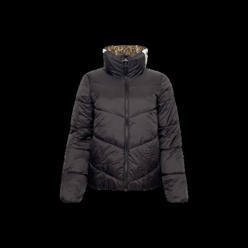DKNY Black Reversible Puffer Jacket