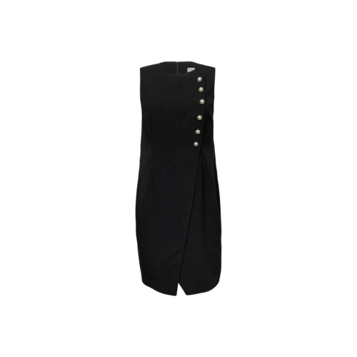 Calvin Klein Black Imitation Pearl Wrap Sheath Dress