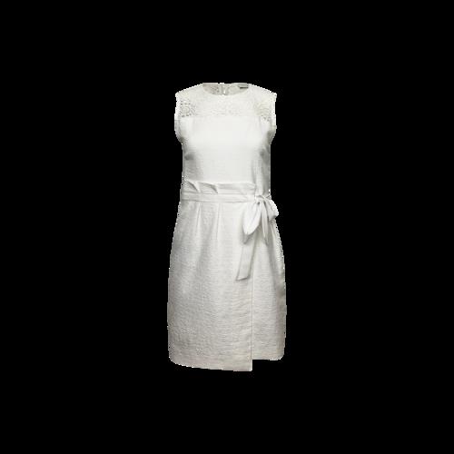 Sandro Paris White Crochet Lace Detail Dress