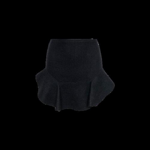 Isabel Marant Black Wool Ruffle Mini Skirt