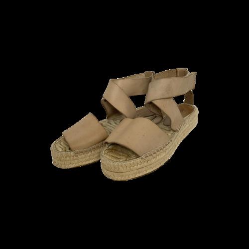 Vince Beige Flatform Espadrille Sandals