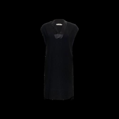 Vince Black V-Neck Shift Dress