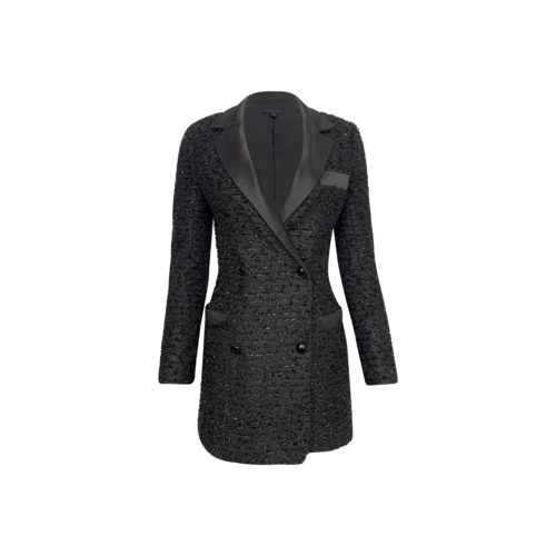 """NBD Black """"Jayla"""" Tweed Blazer Dress"""