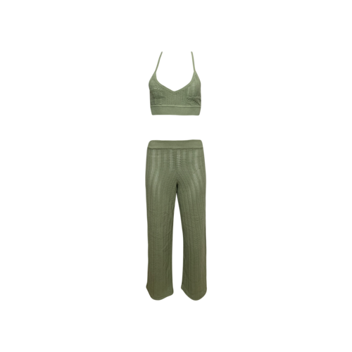 "Tularosa Green 2-Piece ""Maeve"" Knit Top and Pants Set"