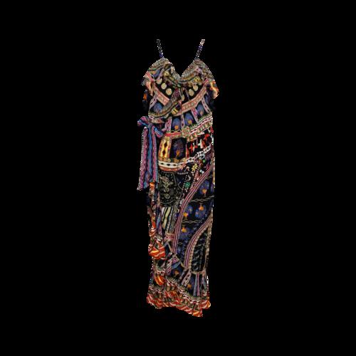 "Camilla Multi-Print ""Dancing On My Own"" Wrap Dress"