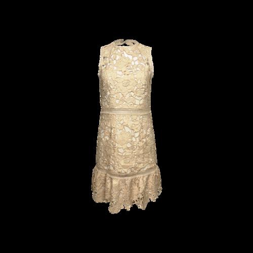 Saylor Peach Crochet Lace Dress
