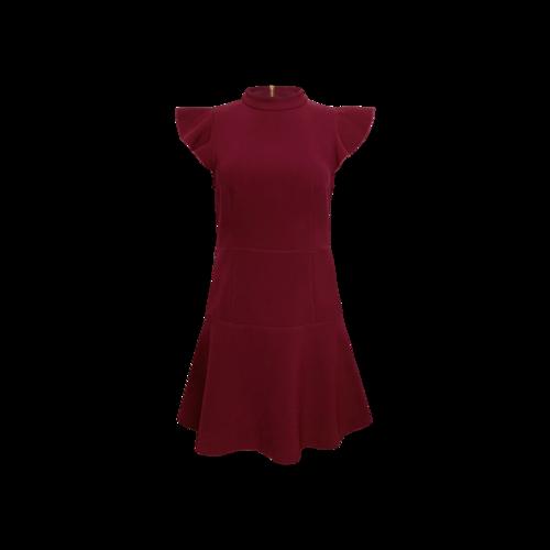"Rachel Zoe Red ""Parma"" Flutter Sleeve Dress"