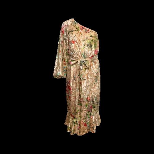 """Hemant & Nandita One-Shoulder Floral Print """"Mistwood"""" Dress"""