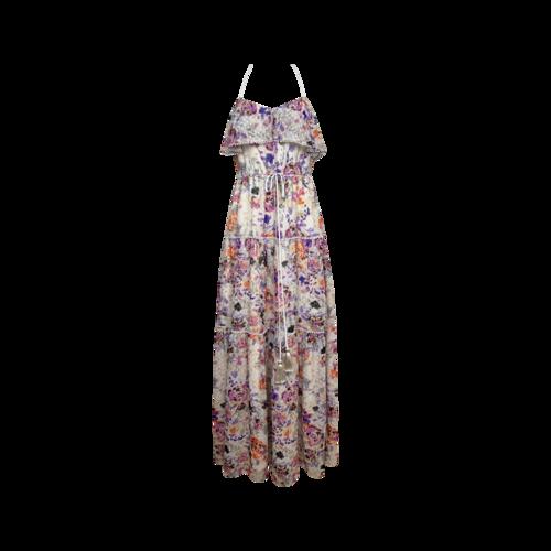 "Likely Floral Print ""Rosy Dream Barada"" Maxi Dress"