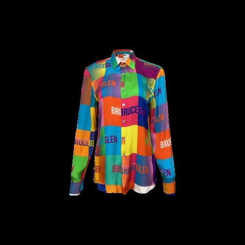 Bruce Glen Multi-Color Logo Blocks Silky Top