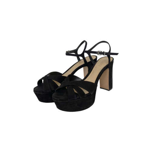 "Schutz Black ""Keefa"" Platform Sandals"