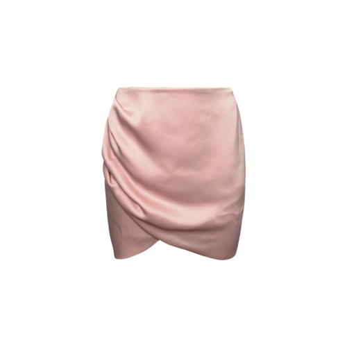 NBD Rose Quartz Side Ruched Mini Skirt