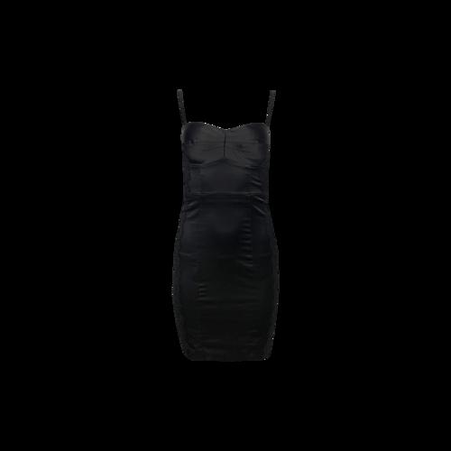Guess Black BodyCon Boudoir Dress w/ Black Lace Side Panels