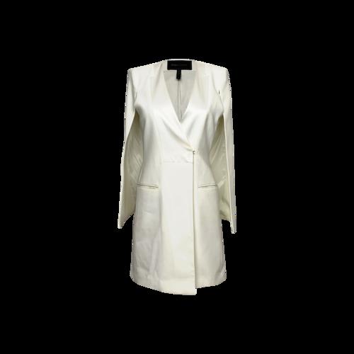 """BCBGMAXAZRIA Ivory """"Ottis"""" Cape Blazer Dress"""