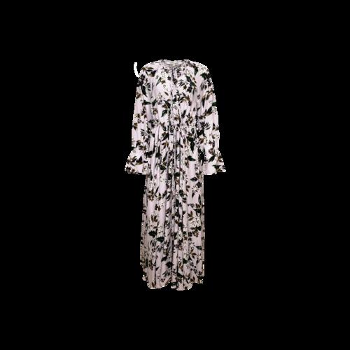Diane von Furstenberg Lilac Floral Print Drawstring Waist Maxi Dress
