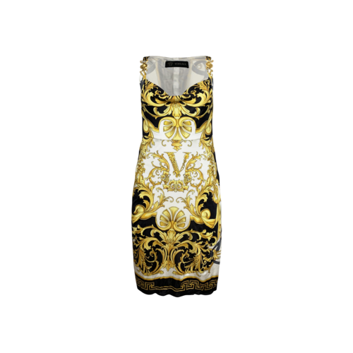 Versace Yellow Baroque Print Body-Con Dress